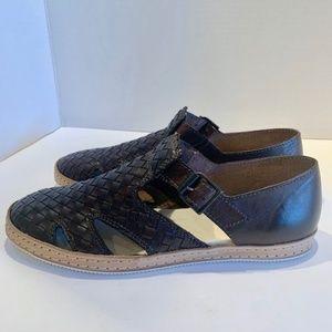 Sesto Meucci Brown Woven Leather Huaraches SZ 8